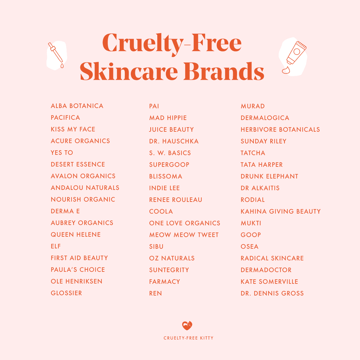 20 Cruelty Free Skincare Brands For Every Budget   Cruelty Free Kitty